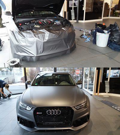 Autofolierung Fahrzeugfolierung final inspection