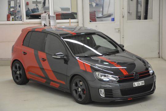 Teilfolierung Folierung VW Golf 6 GTI DFC FolienWerk Design Singen Gottmadingen (2)