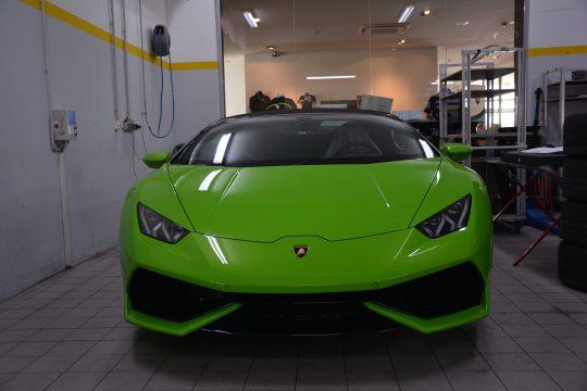 Lackschutzfolierung komplett front Lamborghini Huracan Spider Lackschutz Folie (3)